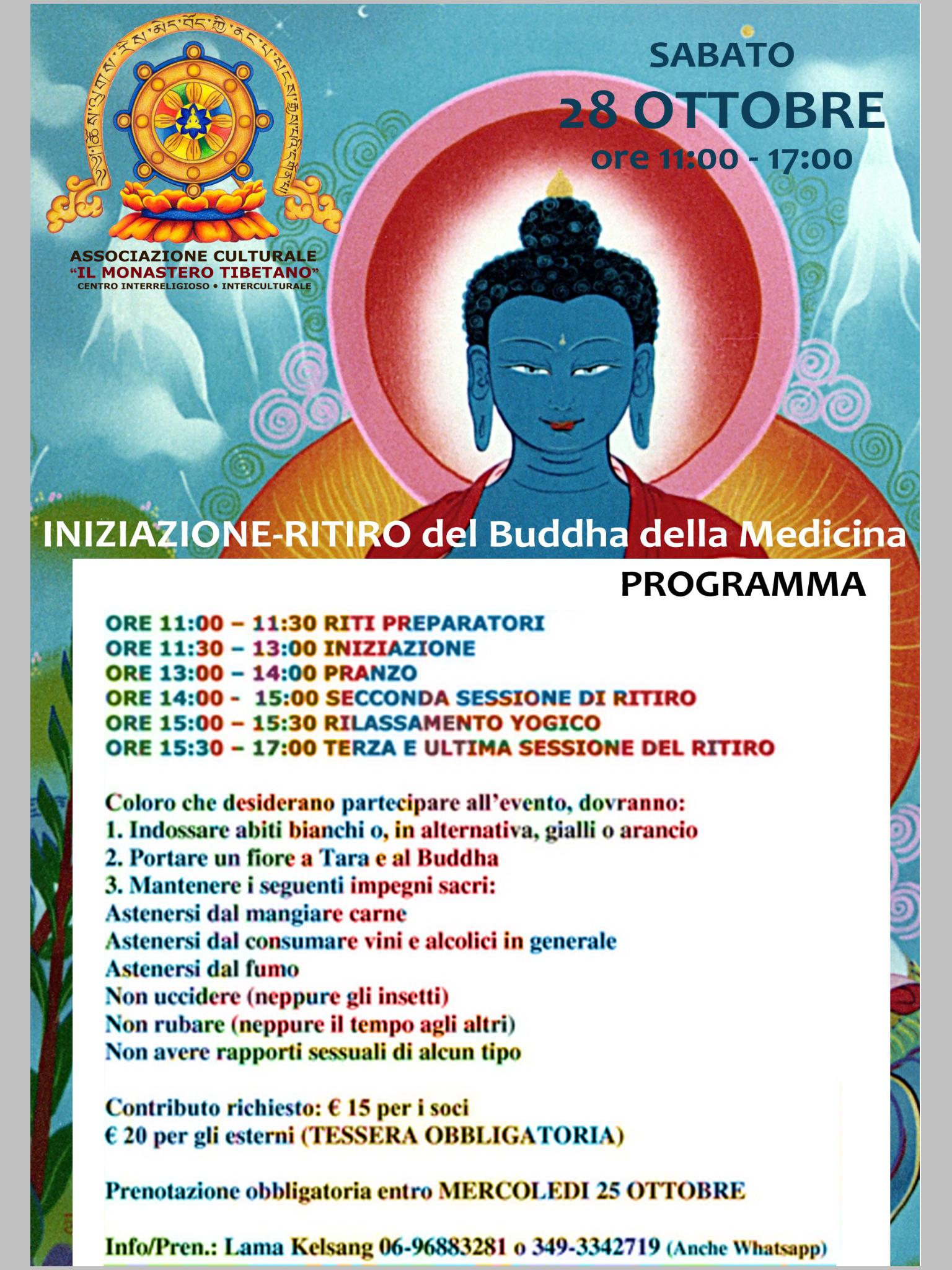 """""""Iniziazione e ritiro Buddha della Medicina"""" – Sabato 28 ottobre 2017"""