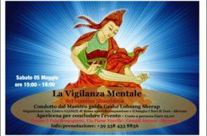 La Vigilanza Mentale del Maestro Shantideva condotto dal Maestro Ven. Geshe Lobsang Sherap
