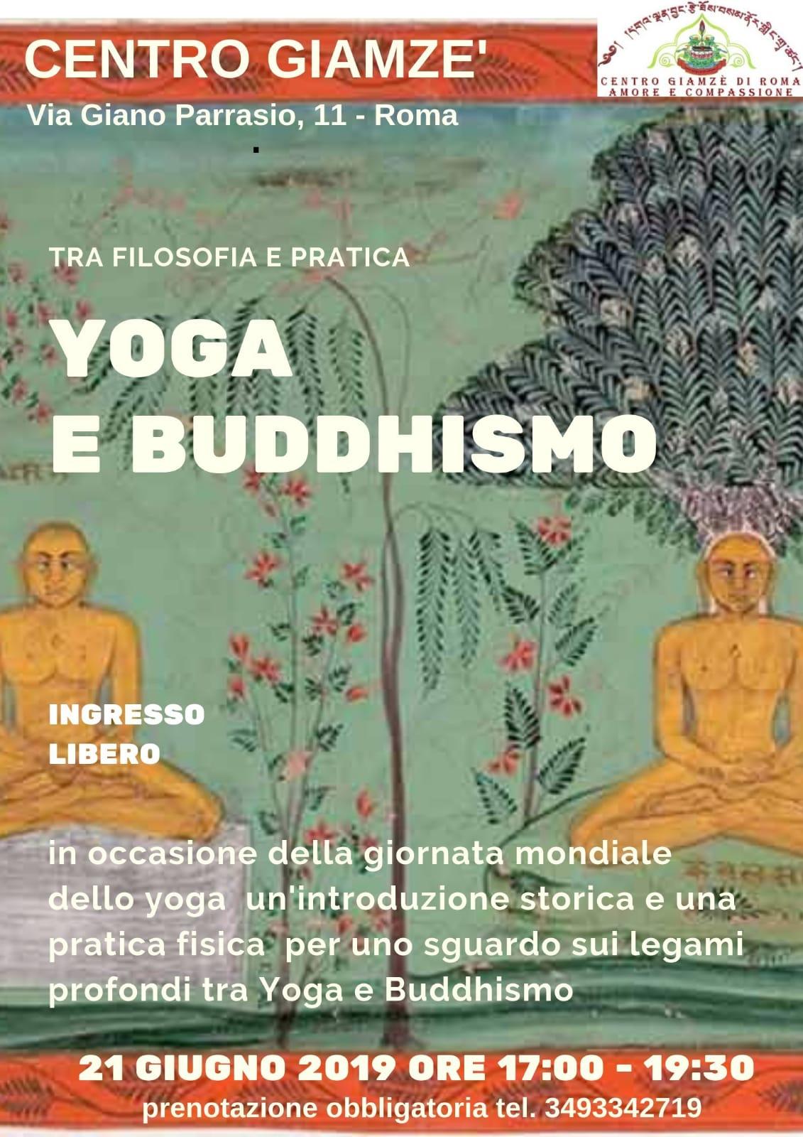 Giornata Mondiale dello Yoga al Centro Giamzè di Roma