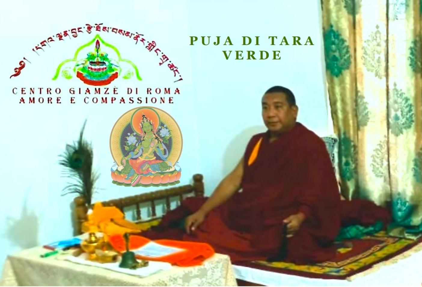 Puja di Tara Verde condotto dal Maestro Residente del Centro Giamzè di Roma Il Ven Geshe Lharampa Gesun Shakya