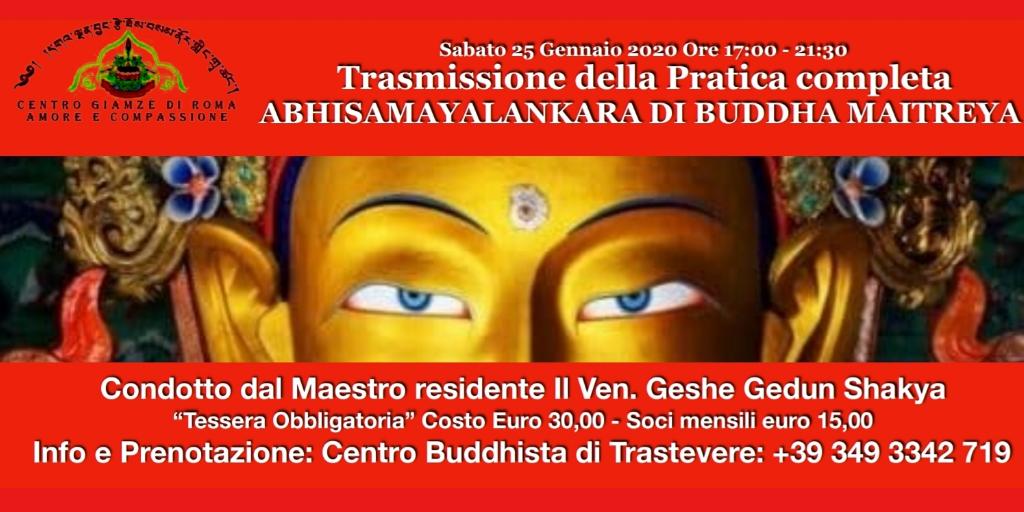 Trasmissione Completa della pratica Abhisamayalankara di Buddha Maitreya