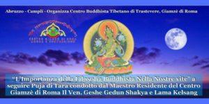 L'importanza della Filosofia Buddhista Nella Nostra vita a seguire Puja di Tara