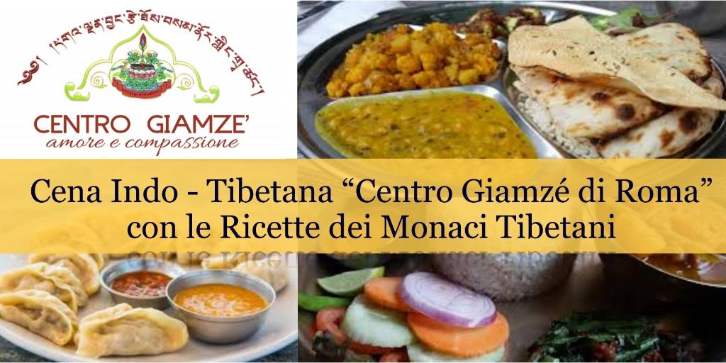 Cena Indo/tibetana dolce Vegano per i soci, Amici del Centro Giamzé di Roma