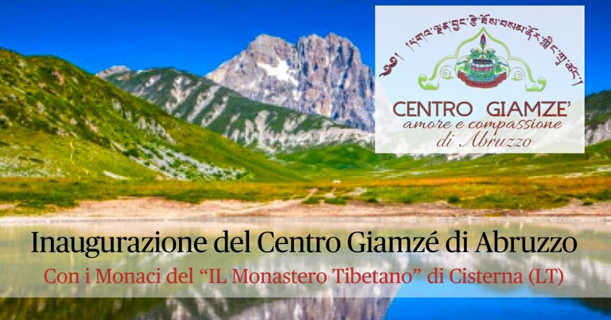 Inaugurazione del Centro Giamzé di Abruzzo con i Monaci del Il Monastero Tibetano